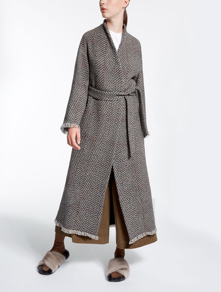 manteau en tweed max mara