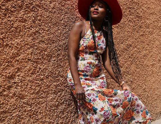 comment porter la jolie robe fleurie