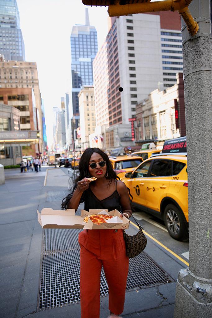 blogueuse noire à new york look bon plan
