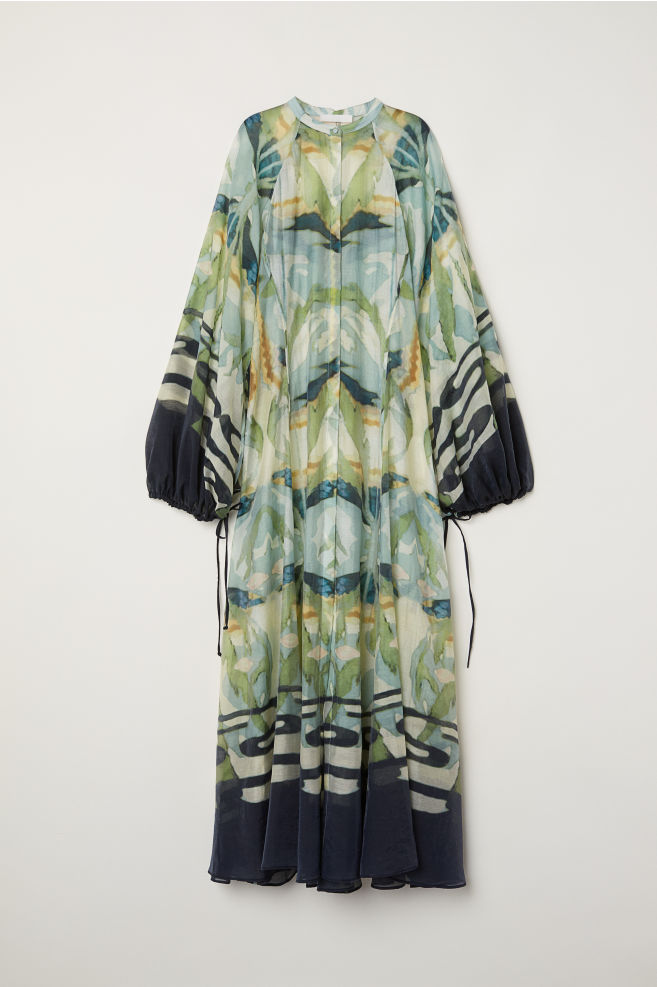 reputable site famous brand buy cheap H&M conscious exclusive long fluid dress - Lina Ose