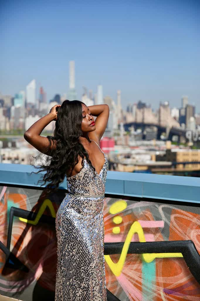 blogueuse noire robe pour un mariage