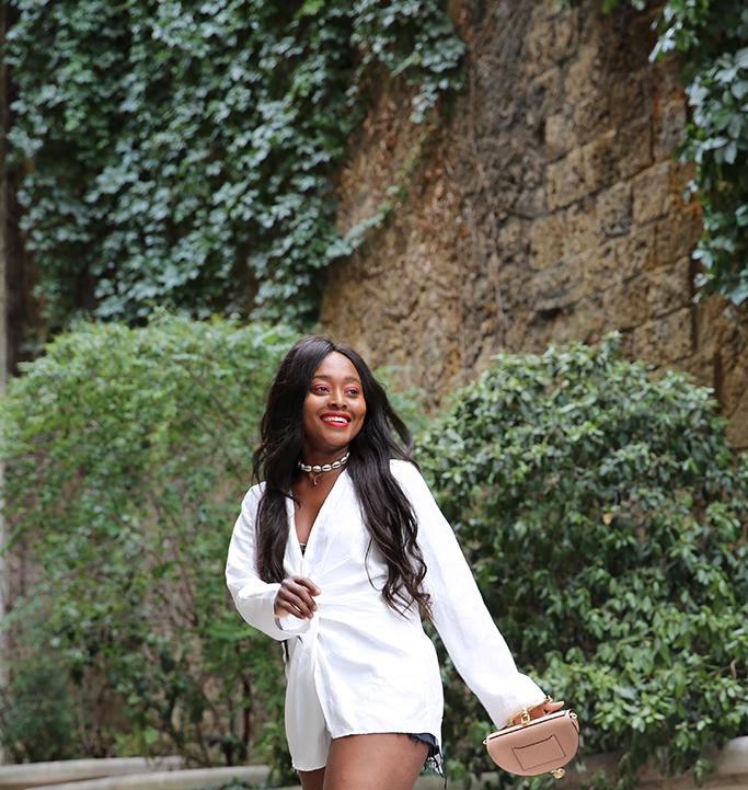 blog mode look avec collier cauri