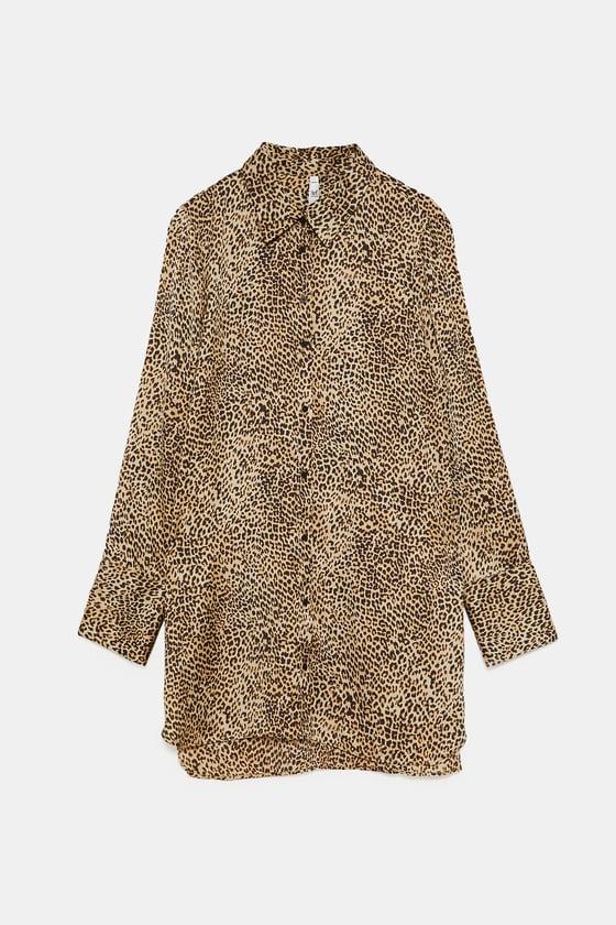 chemise Zara imprimée leopard