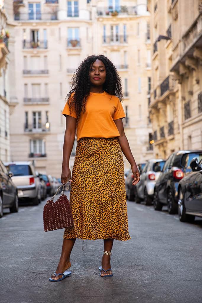 blogueuse mode jupe Imprimée Léopard