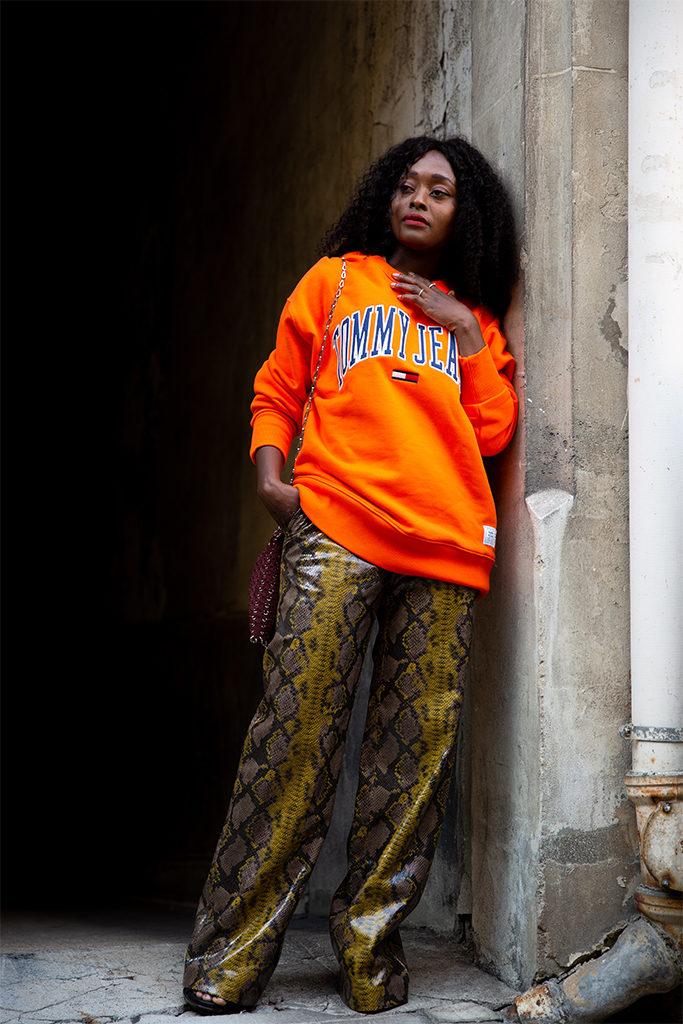 blogueuse mode parisienne noire looks