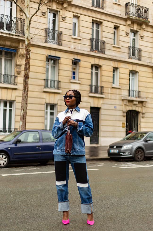 look avec un ensemble en jean