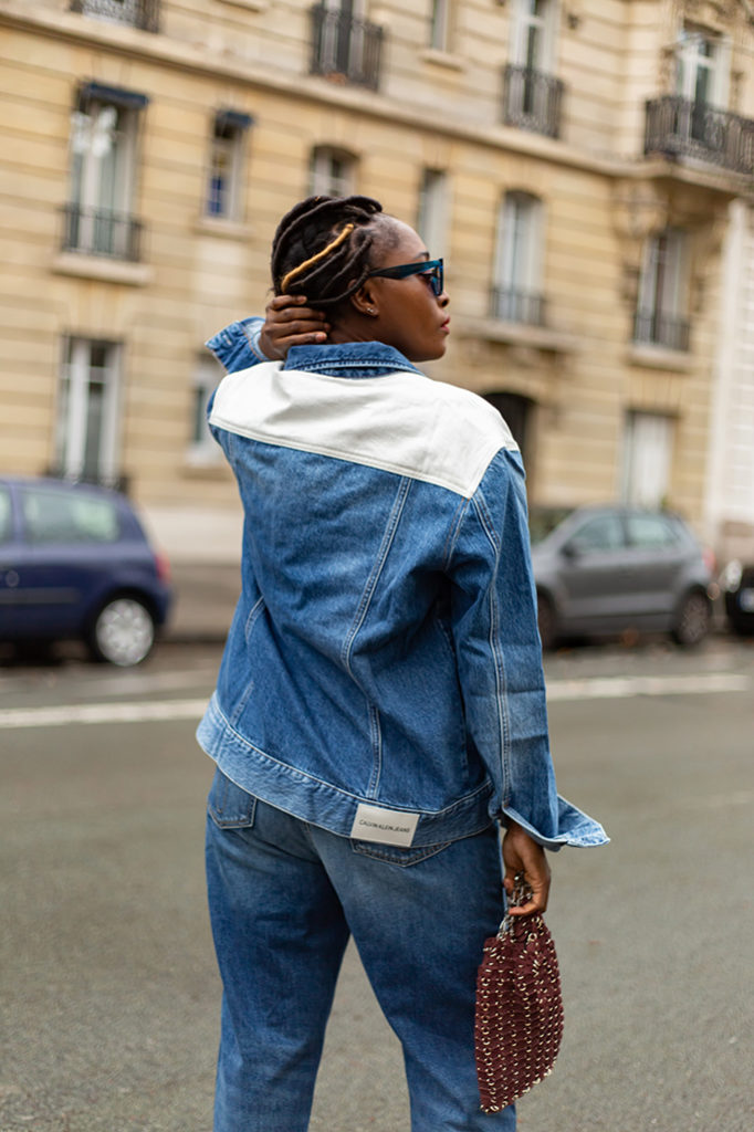 blogueuse mode parisienne look denim
