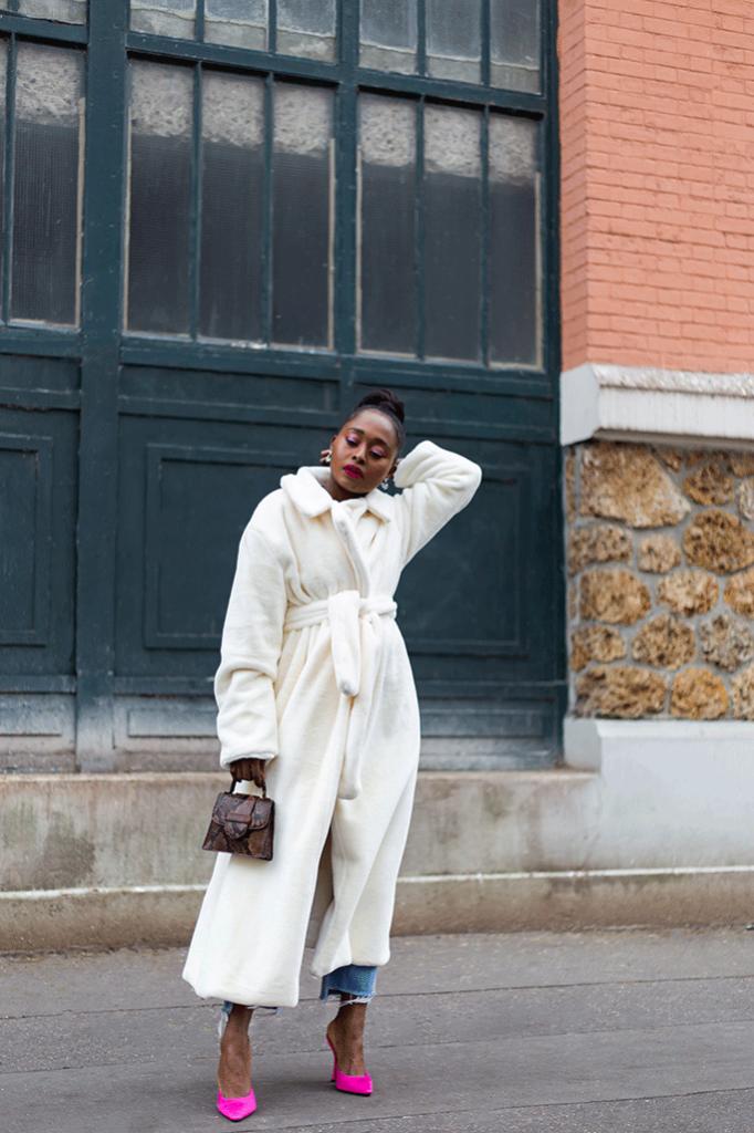 manteau peignoir blanc